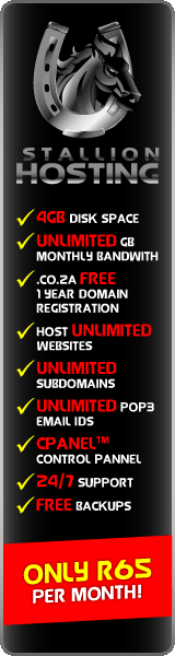 South African Website Hosting at Stallion Hosting