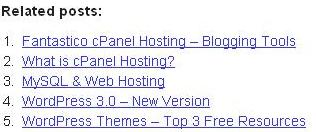 Web Hosting Pro Related Posts Plugin Screenshot